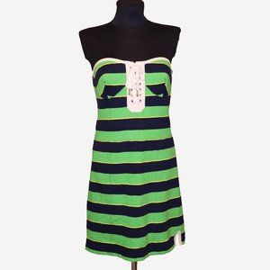 NWT Juicy Couture Y2K Bustier Striped Mini Dress